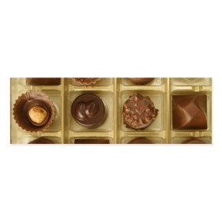 chocolate is music to my ears pack of skinny business cards