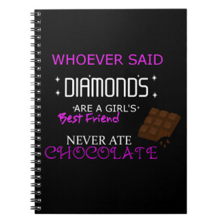 Chocolate IS My BFF Photo Notebook