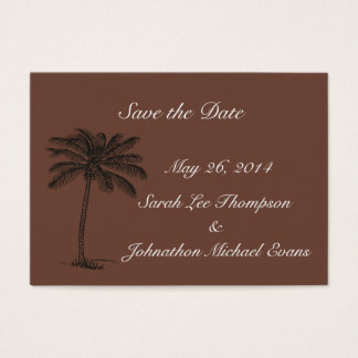Chocolate Java Beach Getaway Save The Date Cards