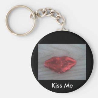 Chocolate kiss basic round button key ring