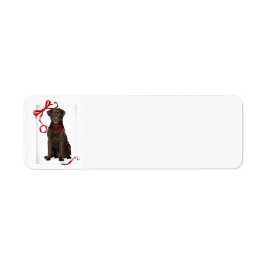 Chocolate Lab Christmas Return Address Labels