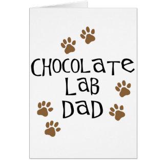 Chocolate Lab Dad Card