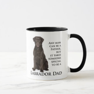 Chocolate Lab Dad Mug