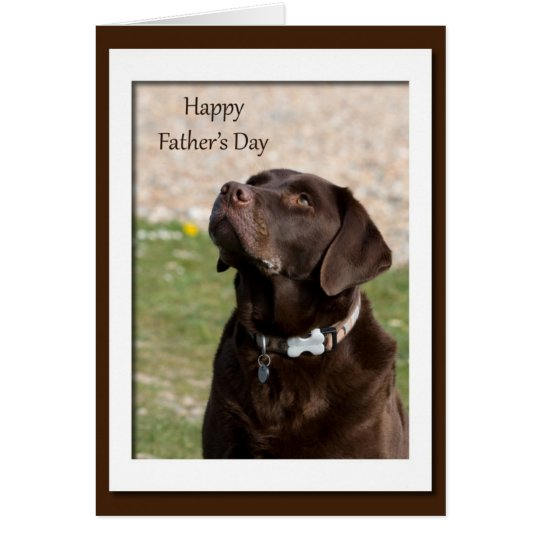 Chocolate Lab Dog Blank Father's Day Card