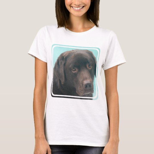 Chocolate Lab Dog Ladies T-Shirt