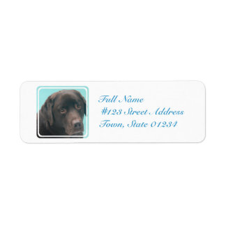 Chocolate Lab Dog Mailing Labels