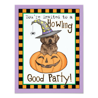 Chocolate Lab Halloween 11 Cm X 14 Cm Invitation Card