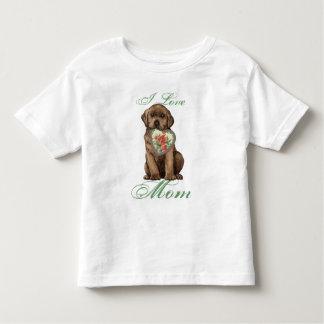 Chocolate Lab Heart Mom Shirts