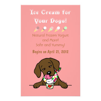 Chocolate Lab Ice Cream for Dogs Flyer