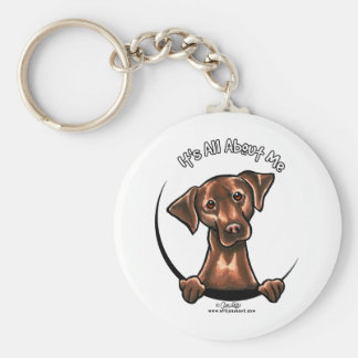 Chocolate Lab Its All About Me Basic Round Button Key Ring