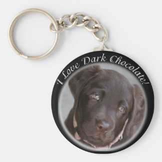 Chocolate Lab Key Chain