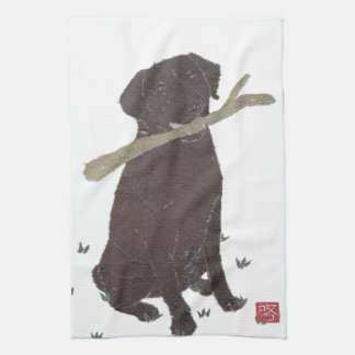 Chocolate Lab, Labrador Retriever, Brown Tea Towel