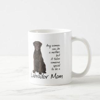 Chocolate Lab Mom Basic White Mug