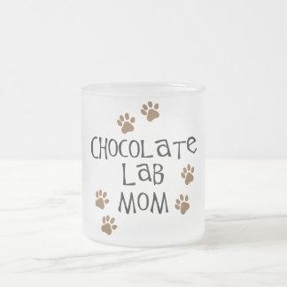 Chocolate Lab Mom Frosted Glass Coffee Mug