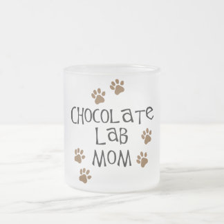 Chocolate Lab Mom Frosted Glass Mug