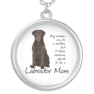Chocolate Lab Mom Silver Plated Necklace