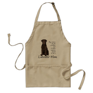 Chocolate Lab Mom Standard Apron