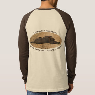Chocolate Lab On A Forest Trail T-Shirt