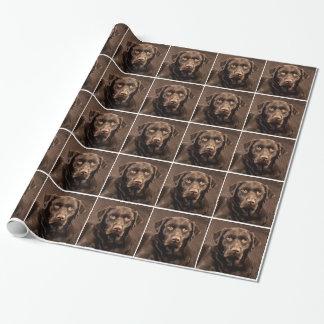 Chocolate Lab Pet Chocolate Labrador Retriever Gift Wrap Paper