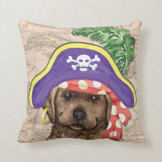 Chocolate Lab Pirate Cushion