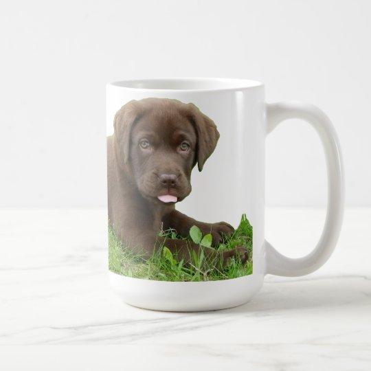 Chocolate Lab Puppy with Attitude Coffee Mug