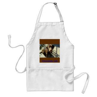 chocolate lab standard apron