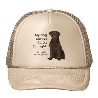 Chocolate Lab v. Wife Trucker Hat