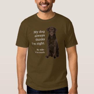 Chocolate Lab v. Wife Shirt