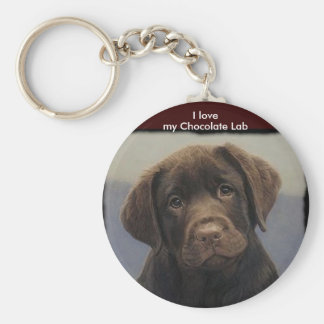 Chocolate Labdrador Retriever Keychain