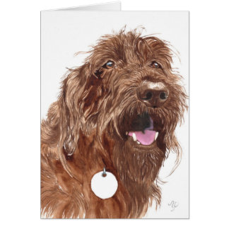 Chocolate Labradoodle #1 Notecards Card