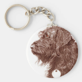 Chocolate Labradoodle Keychain