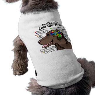 Chocolate Labrador Brain Atlas Sleeveless Dog Shirt
