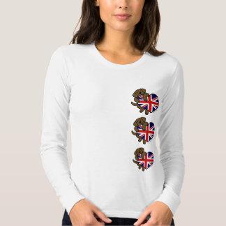 Chocolate Labrador British Heart T Shirt