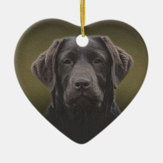 Chocolate Labrador Christmas Ornament