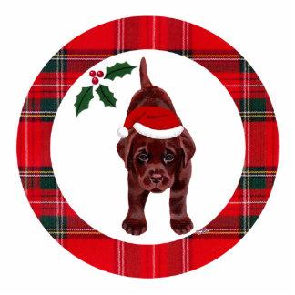 Chocolate Labrador Christmas Ornament Photo Sculpture Decoration