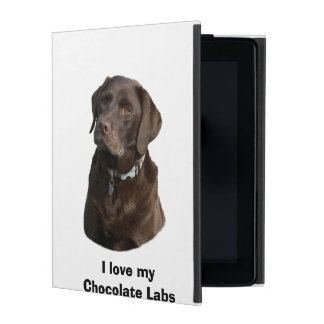 Chocolate Labrador dog photo portrait Cases For iPad