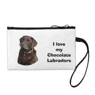 Chocolate Labrador dog photo portrait Coin Purse