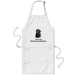 Chocolate Labrador dog photo portrait Long Apron