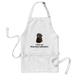 Chocolate Labrador dog photo portrait Standard Apron