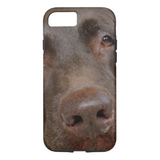Chocolate Labrador Face iPhone 7 Case