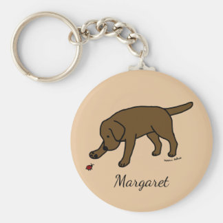 Chocolate Labrador Friendly Keychain