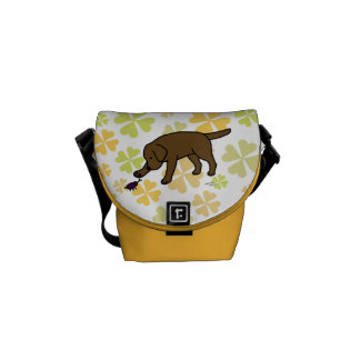 Chocolate Labrador Friendly with Clovers Commuter Bag