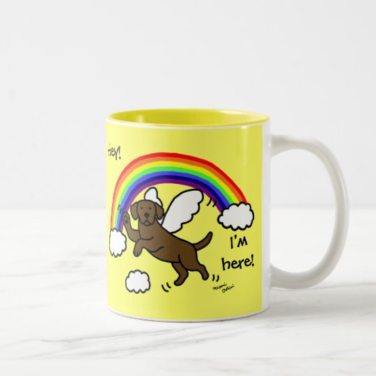 Chocolate Labrador Guardian Angel (Rainbow Bridge) Two-Tone