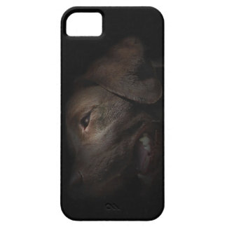 Chocolate Labrador in Darkness Case For The iPhone 5