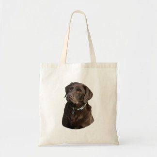 Chocolate Labrador photo portrait Canvas Bags