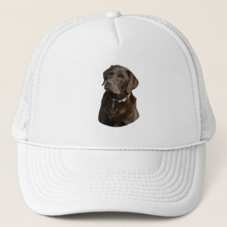 Chocolate Labrador photo portrait Trucker Hat