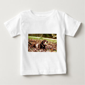 Chocolate Labrador Playing With Ball Baby T-Shirt