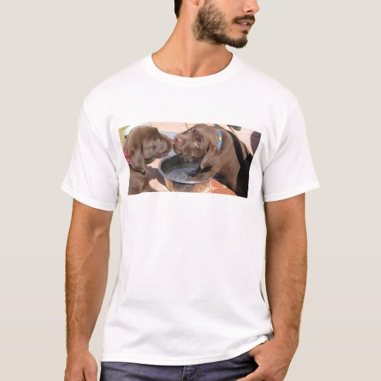 Chocolate Labrador Puppies Play T-Shirt