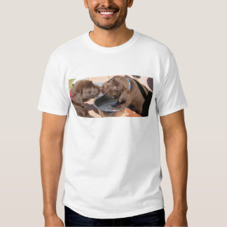 Chocolate Labrador Puppies Play Tee Shirt