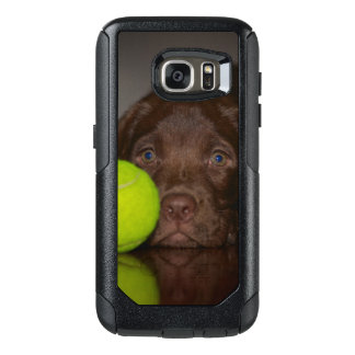 Chocolate Labrador Puppy With Tennis Ball OtterBox Samsung Galaxy S7 Case